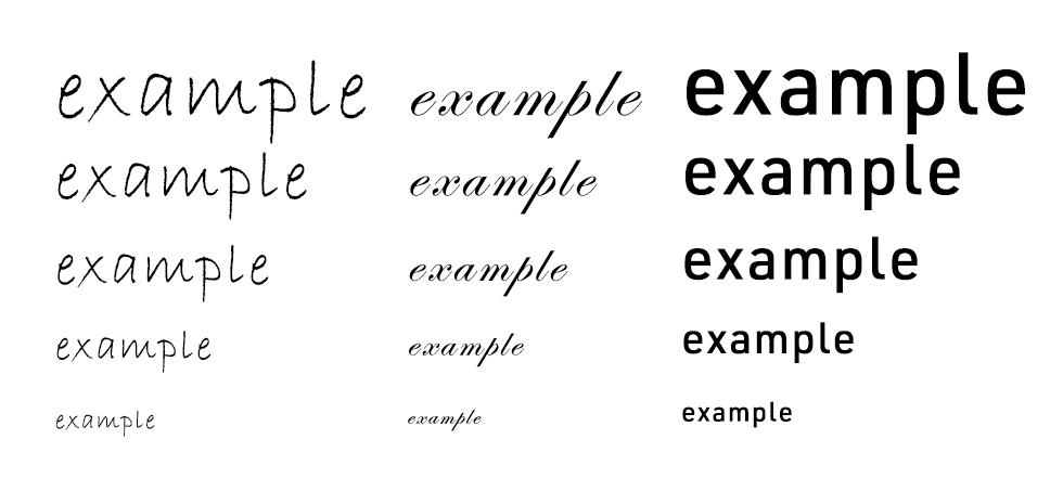 小さい文字でも通用するフォントを選ぶ